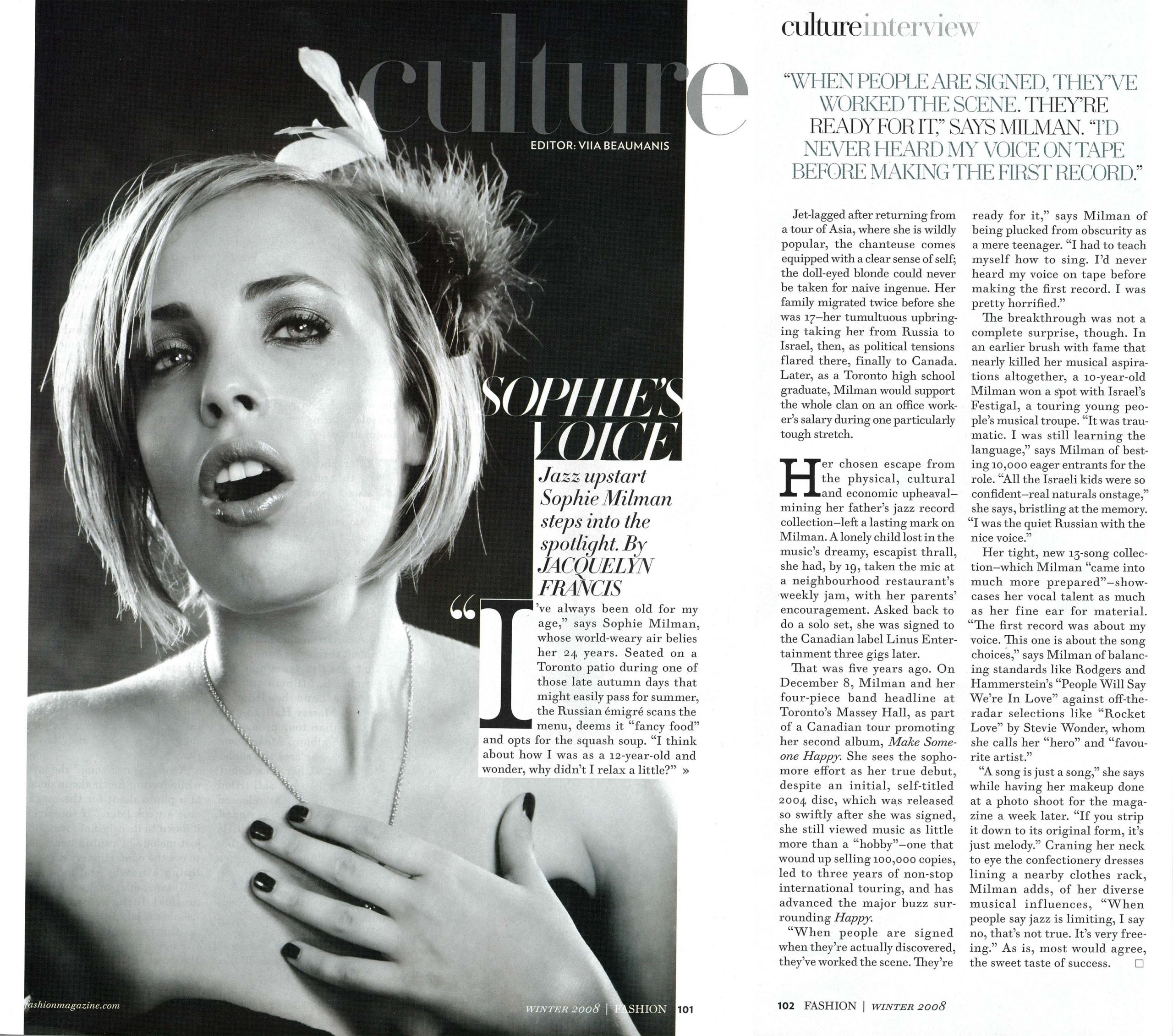 Fashion Magazine Article